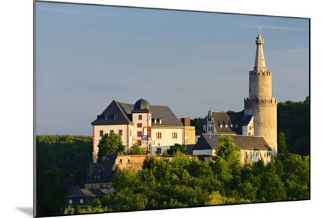 Germany, Thuringia, Weida, the Castle Osterburg in the Evening Light-Andreas Vitting-Mounted Photographic Print