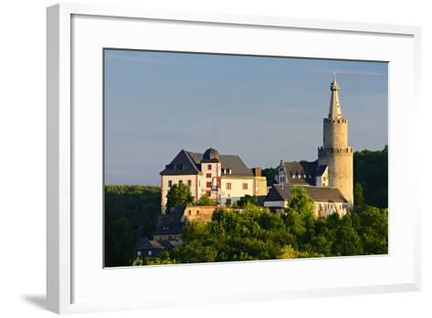 Germany, Thuringia, Weida, the Castle Osterburg in the Evening Light-Andreas Vitting-Framed Art Print