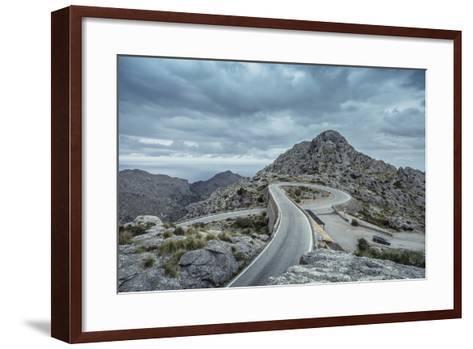 Mountain Pass Road on Majorca, Sa Calobra, Serpentine-Jorg Simanowski-Framed Art Print