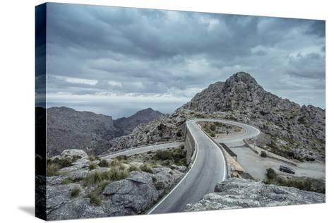 Mountain Pass Road on Majorca, Sa Calobra, Serpentine-Jorg Simanowski-Stretched Canvas Print