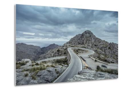 Mountain Pass Road on Majorca, Sa Calobra, Serpentine-Jorg Simanowski-Metal Print