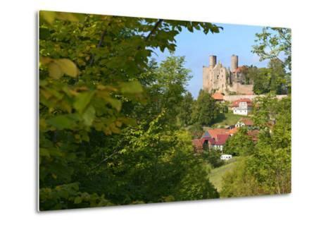 Germany, Thuringia, Eichsfeld (Region), Rimbach (District) and Castle Hanstein-Andreas Vitting-Metal Print