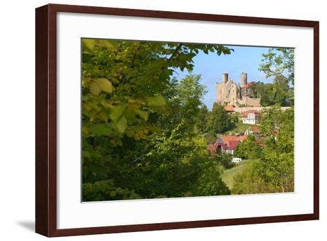Germany, Thuringia, Eichsfeld (Region), Rimbach (District) and Castle Hanstein-Andreas Vitting-Framed Art Print