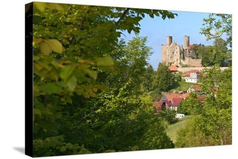 Germany, Thuringia, Eichsfeld (Region), Rimbach (District) and Castle Hanstein-Andreas Vitting-Stretched Canvas Print