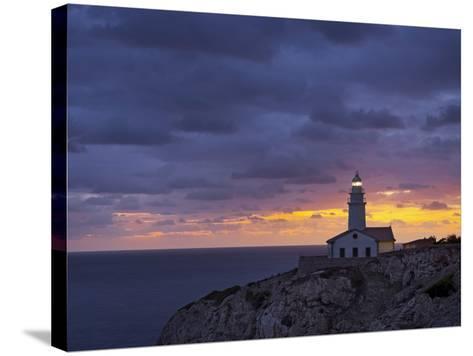Lighthouse at Cap De Capdepera, Daybreak, Majorca, Spain-Rainer Mirau-Stretched Canvas Print