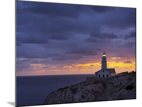Lighthouse at Cap De Capdepera, Daybreak, Majorca, Spain-Rainer Mirau-Mounted Photographic Print