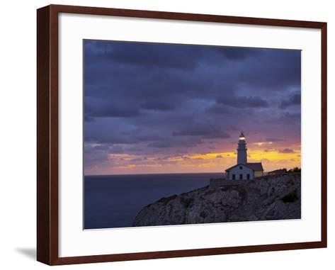 Lighthouse at Cap De Capdepera, Daybreak, Majorca, Spain-Rainer Mirau-Framed Art Print