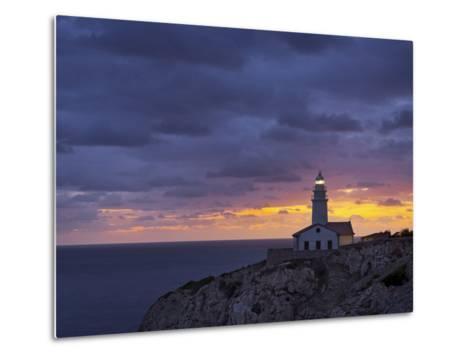 Lighthouse at Cap De Capdepera, Daybreak, Majorca, Spain-Rainer Mirau-Metal Print