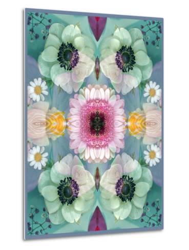Composing, Symmetrical Arrangement of Flowers in Pastel Shades-Alaya Gadeh-Metal Print