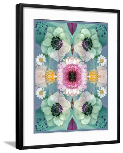 Composing, Symmetrical Arrangement of Flowers in Pastel Shades-Alaya Gadeh-Framed Art Print
