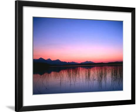Lake, Mountains, Afterglow-Thonig-Framed Art Print