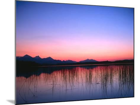 Lake, Mountains, Afterglow-Thonig-Mounted Photographic Print