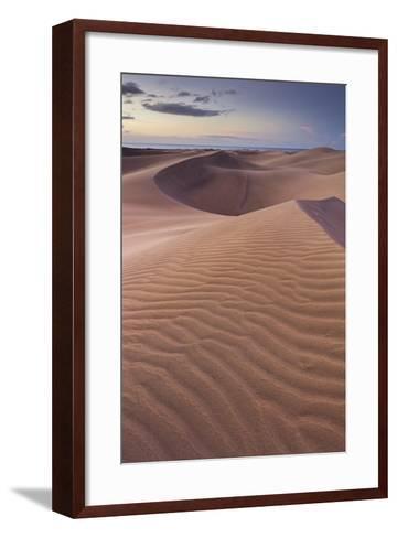 Dunes Close Maspalomas, Gran Canaria, Canary Islands, Spain-Rainer Mirau-Framed Art Print