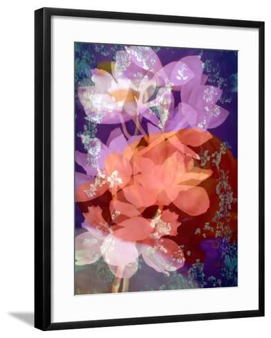 Floral Montage, Photographic Layer Work-Alaya Gadeh-Framed Art Print