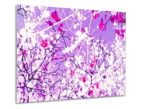 Photomontage of Trees in Purple Tones-Alaya Gadeh-Metal Print
