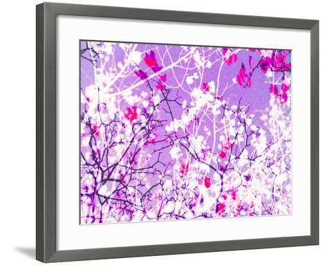 Photomontage of Trees in Purple Tones-Alaya Gadeh-Framed Art Print