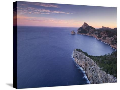 Spain, Mallorca, Formentor Peninsula, Rock, Mediterranean Sea-Rainer Mirau-Stretched Canvas Print