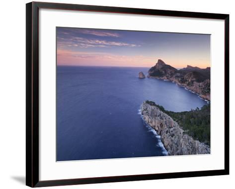 Spain, Mallorca, Formentor Peninsula, Rock, Mediterranean Sea-Rainer Mirau-Framed Art Print