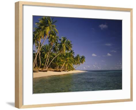 Palmenstrand-Thonig-Framed Art Print