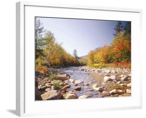 USA, New Hampshire, White Mountains, Swift River, Landscape, Autumn-Thonig-Framed Art Print