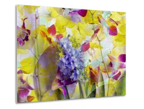 An Abstract Multicolor Floral Montage Photographic Layer Work-Alaya Gadeh-Metal Print