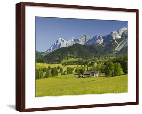 Ramsau, Dachstein, Summer Meadow, Styria, Austria-Rainer Mirau-Framed Art Print