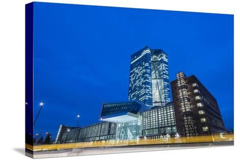 Germany, Hesse, New Building of the European Central Bank in the Frankfurt Ostend-Bernd Wittelsbach-Stretched Canvas Print