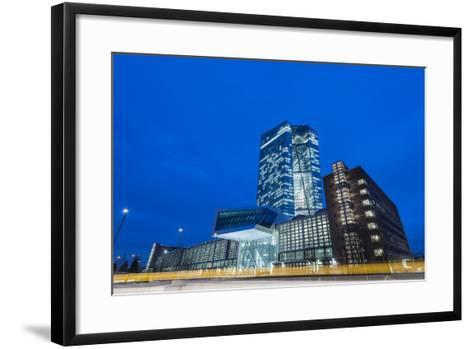 Germany, Hesse, New Building of the European Central Bank in the Frankfurt Ostend-Bernd Wittelsbach-Framed Art Print