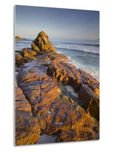 Red Granite at Anse Gaulettes, La Digue Island, the Seychelles-Rainer Mirau-Metal Print
