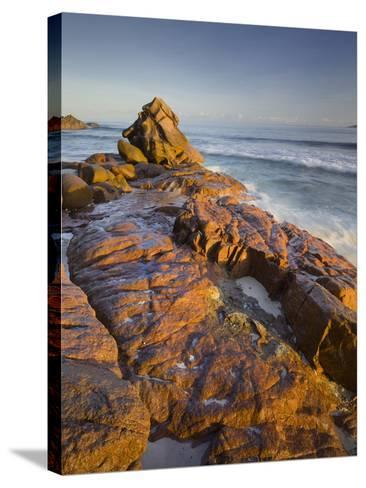 Red Granite at Anse Gaulettes, La Digue Island, the Seychelles-Rainer Mirau-Stretched Canvas Print