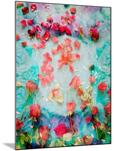 Photomontage of Red Roses and Floralen Ornaments-Alaya Gadeh-Mounted Photographic Print