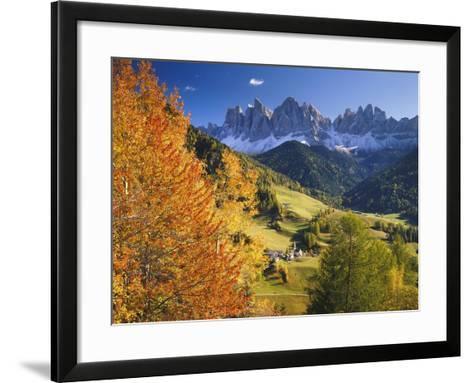 Italy, South Tyrol, Villn?Tal, St. Magda Lena, Geislerspitzen-Thonig-Framed Art Print