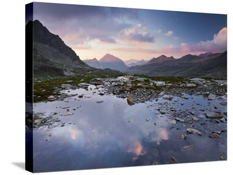 Austria, Tyrol, Bieltal, VallŸla, Lake-Rainer Mirau-Stretched Canvas Print