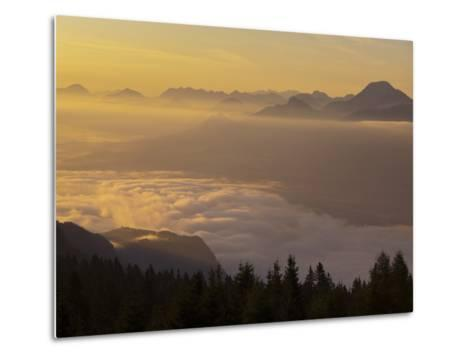 Austria, Carinthia, Morning Mood, Sunrise-Rainer Mirau-Metal Print
