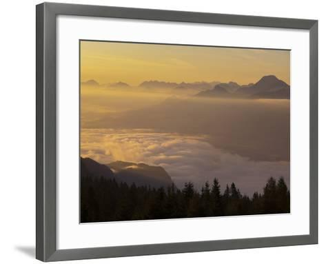 Austria, Carinthia, Morning Mood, Sunrise-Rainer Mirau-Framed Art Print