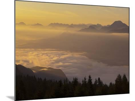 Austria, Carinthia, Morning Mood, Sunrise-Rainer Mirau-Mounted Photographic Print