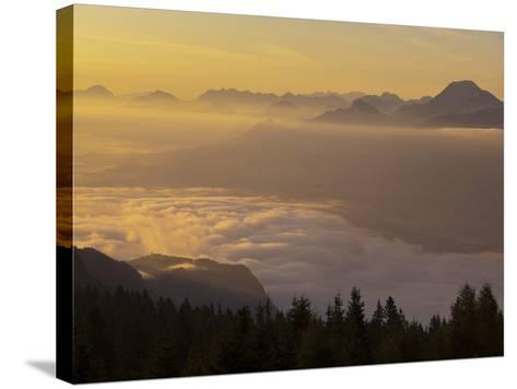 Austria, Carinthia, Morning Mood, Sunrise-Rainer Mirau-Stretched Canvas Print