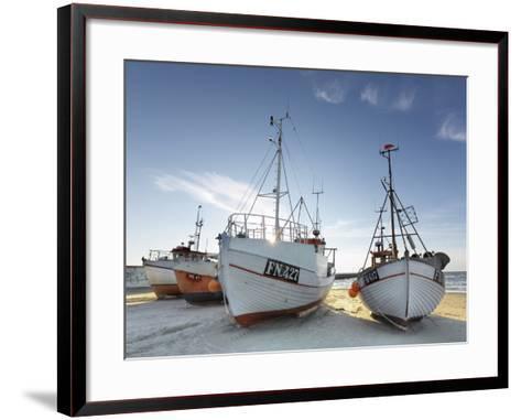 Denmark, Jutland, Lškken, Beach, Boats, Ships-Harald Schšn-Framed Art Print