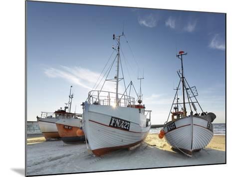 Denmark, Jutland, Lškken, Beach, Boats, Ships-Harald Schšn-Mounted Photographic Print