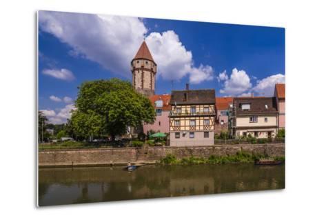 Germany, Baden-WŸrttemberg, Main-Tauber-Region, Wertheim, Tauberufer-Udo Siebig-Metal Print