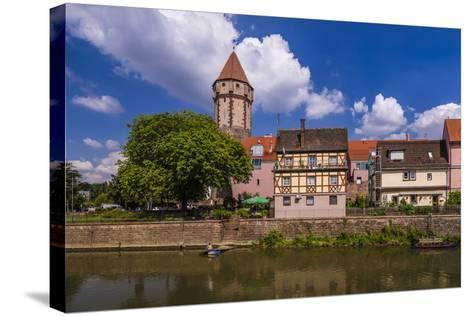 Germany, Baden-WŸrttemberg, Main-Tauber-Region, Wertheim, Tauberufer-Udo Siebig-Stretched Canvas Print