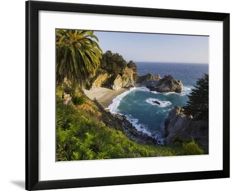 Mcway Falls, Mcway Cove, Julia Pfeiffer Burns State Park, California, Usa-Rainer Mirau-Framed Art Print
