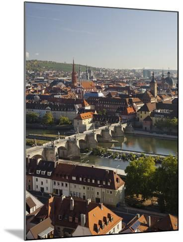 View from the 'Marienberg' Fortress over Wurzburg, 'Alte MainbrŸcke' (Bridge-Rainer Mirau-Mounted Photographic Print