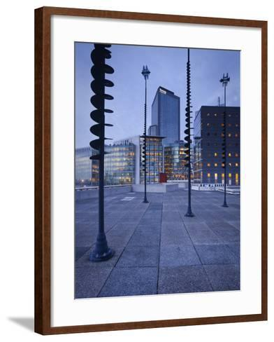 France, Paris, La Defense, High Rises, Le Basin De Takis, Sculptures-Rainer Mirau-Framed Art Print