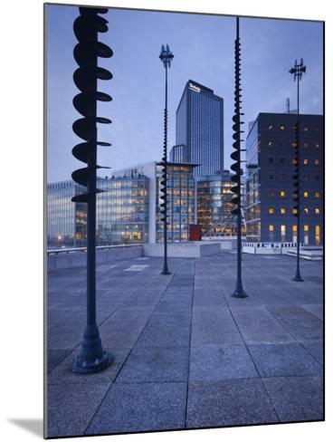 France, Paris, La Defense, High Rises, Le Basin De Takis, Sculptures-Rainer Mirau-Mounted Photographic Print