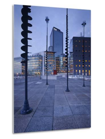 France, Paris, La Defense, High Rises, Le Basin De Takis, Sculptures-Rainer Mirau-Metal Print
