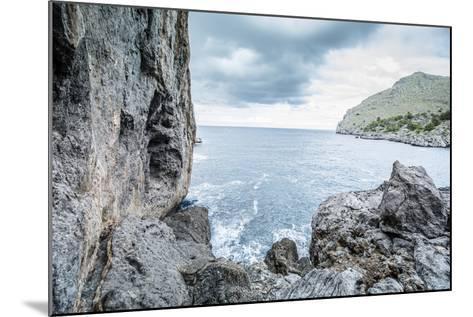 Steep Coast on Majorca with View to the Sea at Sa Calobra-Jorg Simanowski-Mounted Photographic Print