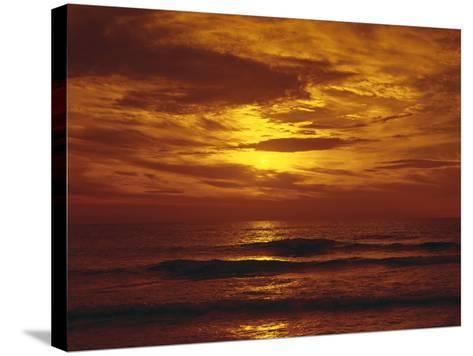 Sundown by the Sea-Thonig-Stretched Canvas Print