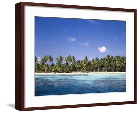 Malediven, Meer, Palmenstrand, Indischer Ozean, Palmeninsel, Detail, Strand-Thonig-Framed Art Print