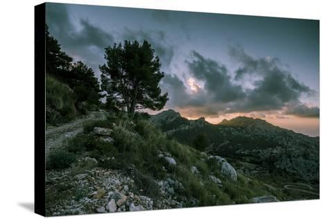 Sunset on Majorca, Serra De Tramuntana-Jorg Simanowski-Stretched Canvas Print